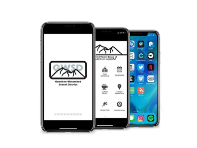 Gunnison Watershed School District branding app design logo
