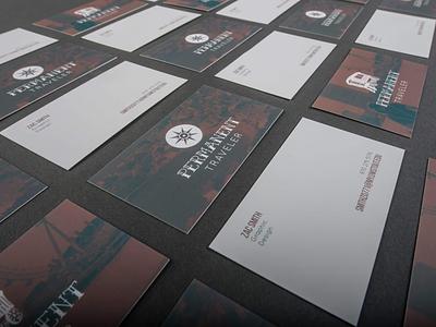 Permanent Traveler Business Cards brand identity design business card