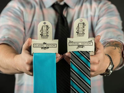 Tie'd Up Neckware tie design brand packaging