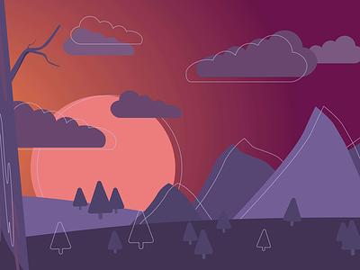 Landscape No.1 illustrator vector landscape