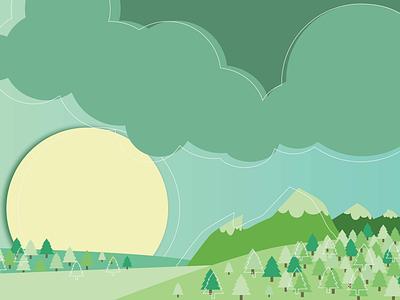 Landscape No. 4 - Mountains of Home illustrator landscape mountains vector