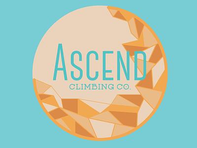 Ascend Climbing Co. brand identity project identity illustrator climbing logo brand