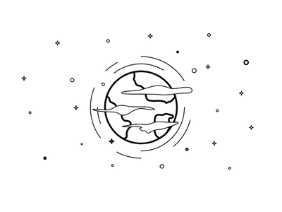 Planet icon planet illustrator