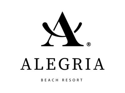 Alegria Beach Resort smile logo branding hotel greece rethymno crete