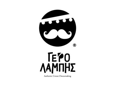 Gero Lampis wheel round bandanna mustache cretan face logo