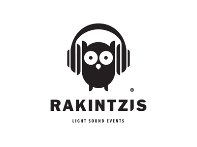 Rakintzis.Events headphones owl concert organizer party djs dj events greece logo rethymno crete