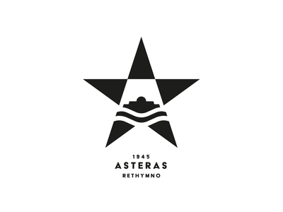 ASTERAS FC soccer waves sea castle fortezza branding logo greece rethymno crete football club star