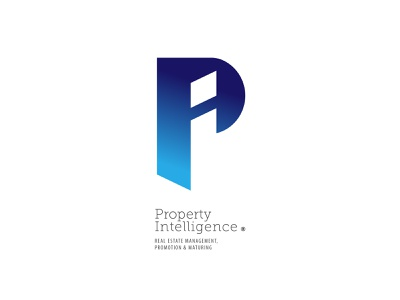 Property Intelligence branding logo greece rethymno crete lettering initial intelligence property management real estate