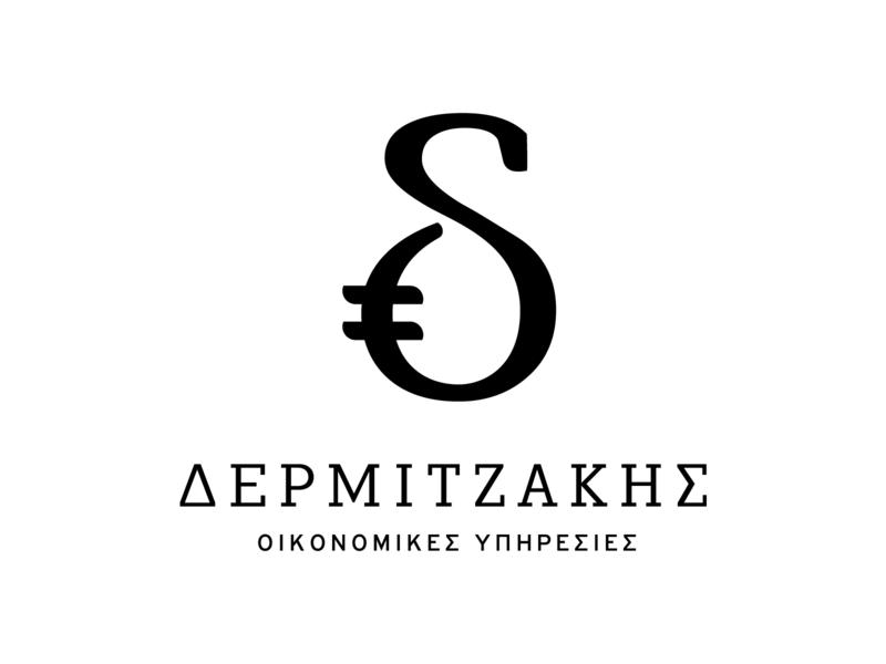 Dermijakis 3 crete reckoner bookkeeper accountant financial economical logo design logo