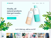 Homepage Hero Design - Natural Products