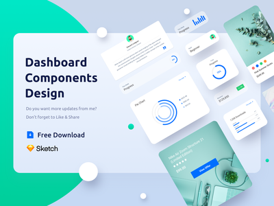 Freebie Dashboard Components Design