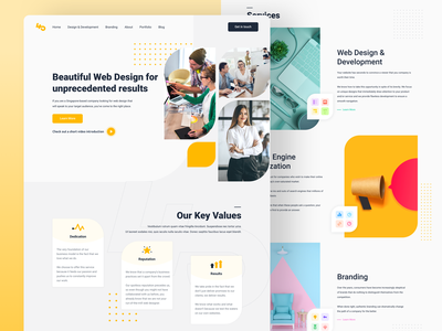 Web Agency Homepage Design clean design landing page design it development agency agency landing page agency branding company website company corporate agency web design development software portfolio firm web design website agency website web agency