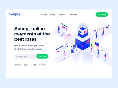 Accept Online Payments Homepage Hero Design concept minimal branding design corporate identity finance fintech online payments online payments landing page corporate website finance website clean ui product page b2b website saas service homepage design homepage design