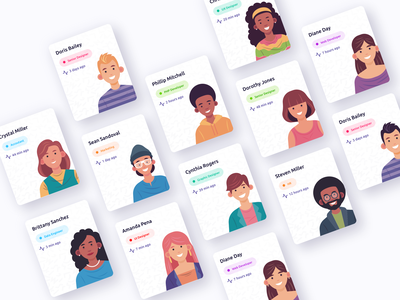 User Roles Cards members team users design system design components user role ui ux clean design webdesign minimal cards design branding app components cards ui illustration vector cards