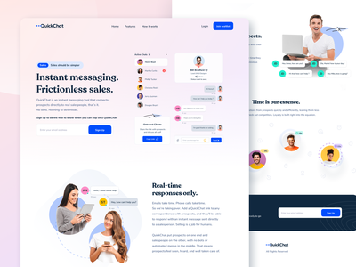 Webflow QuickChat SaaS Website Design v1 website saas website saas chat bubble chat box app chat app intercom livechat design landing page design ui cards design system chat system chat design saas design landing page webflow design wordpress webflow