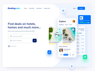 Booking Website Redesign Concept V1 hotels flights apartments book accomodation wordpress ui ux website hotel rent a car hotel app travel travel app airbnb app booking app traveling booking webflow