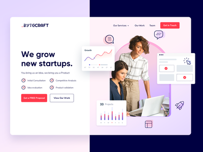 Startup Website Landing Page Design V1 dashboard web webdesign app minimal interface ui ux product page saas charts graphs hero section growth product design landing page startup wordpress webflow