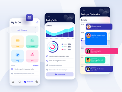 To Do List App UI Design checklist interface app design product mobile todo app task manager todo list application task task management ui ux todolist mobile ui management to do list to do app design app