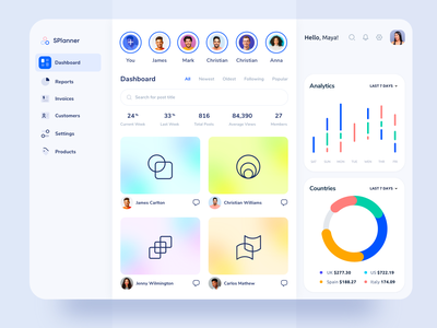 Social Media Web Platform - Dashboard Design account admin ux network statistics social media data social stats analytics social dashboard saas platform web design clean app dashboard social media dashboard socialmedia