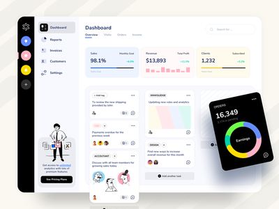 Dashboard Web App UX UI Design web app design software analytics management trello kanban view fintech user interface ui kit interface saas clean app minimal web application design dashboard web app web app ux ui design