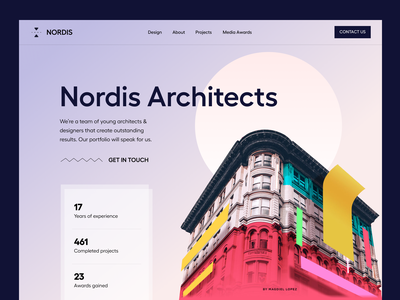 Nordis Architects architecture design residential buildings apartments minimal branding architecture web deign interior home design website landing page architect interiors art architecture website property webflow real estate