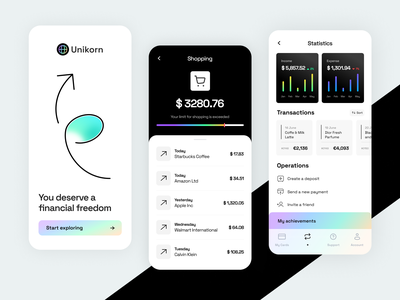 Finance Mobile Banking shopping savings expenses income payment operations transactions analytics app application ux app design app mobile app finance app finacial app revolut finance