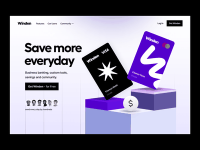 fintech banking & payments website credit card cards savings payment payments product illustration website saas app ux ui design banking fintech webflow