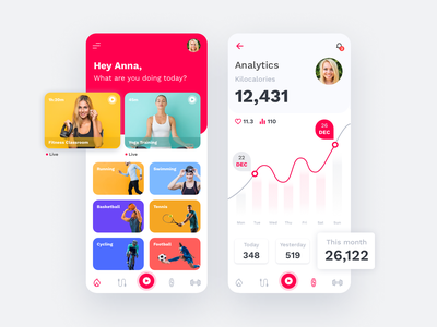 Sport Mobile App analytics dashboard kilocalories ux ui analytics chart design fitness sport workout clean minimal profile design app mobile interface chart schedule analytics statistics profile