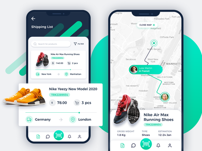 Shipping Ecommerce Store - Parcel Tracking App scan delivery status design activity parcels ux ui location delivery app interface app tracking progress app design ux map shipment ecommerce shipping analytics dashboard