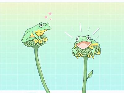 Frogs Illustration nature frogs frog design procreate illustration