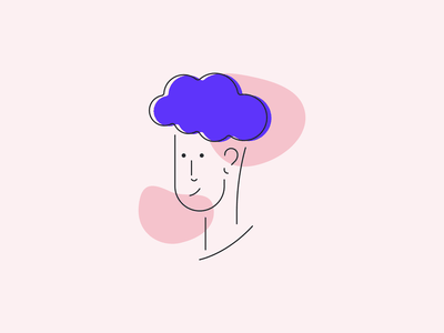 Face 1 character lines simple illustration