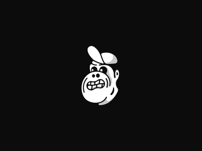 Angry Monkey Fella angry character design monochrome character shades simple illustration sticker icon vector emotion face monkey