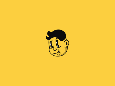 Excited Fella emotion two face character simple illustration