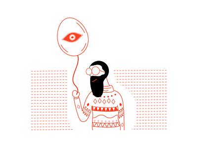 Phase 1. thirdeye clean simple illustration bubble