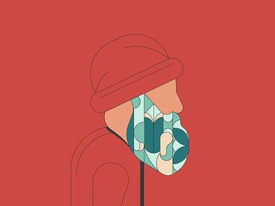 Beardiful texture illustrations flower lines simple beard illustration art illustration illustrator