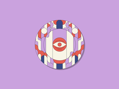 Look at that, who's watching... eyeball pattern illuminati illustration simple circle third eye third eye