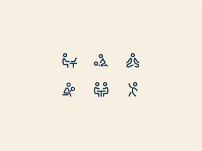 Indoor activity icons