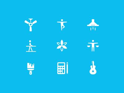 Thumbtack icons