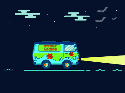 """""""Mystery Machine"""" from the TV show """"Scooby-Doo"""" cartoon van van scooby-doo mystery machine"""
