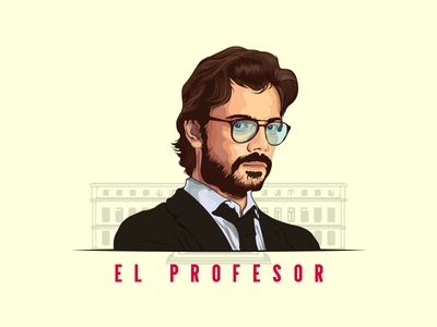 El Profesor.. character illustration characterdesign vector drawing la casa de papel el profesor money heist illustraion vector portrait vector illustration vector art