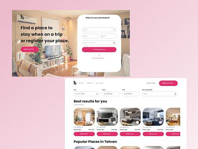 HouseTrip Website uidesign webdesign ux adobexd uiux