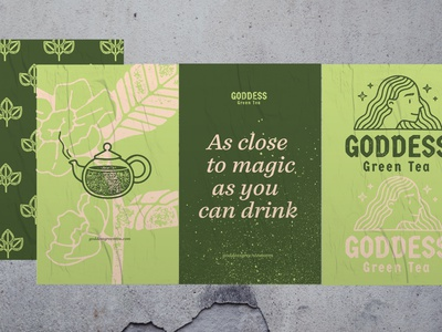 Green Tea matcha icon logo collage branding pattern vector texture design illustration