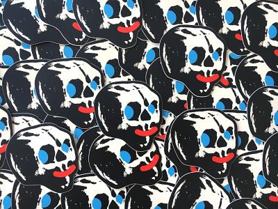 :-) logo icon pattern design illustration sticker skulls