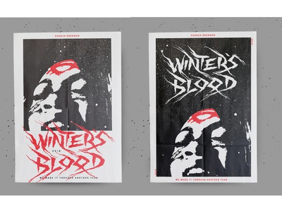 Winter's Blood movie poster indie film movie poster horror movie horror vector texture design illustration