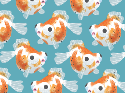 Goldfish pattern vector goldfish pattern texture design illustration