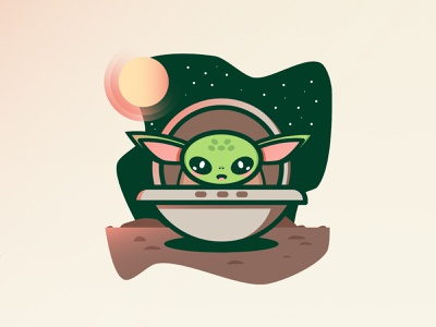 Yoda de The Child baby yoda yoda starwars poster mexico ilustracion illustration 1310 design jesus gerardo garcia arballo trecediez