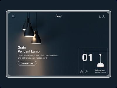 Lamp store website shop store concept lamp