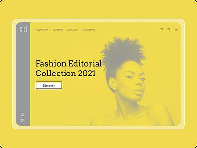 Fashion Web fashion design fashion concept ui design website 2021