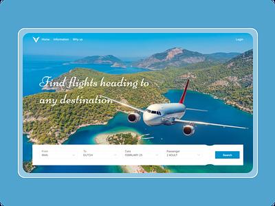 ✈️airplane concept✈️ 2021 design website concept ui ticket air airplane