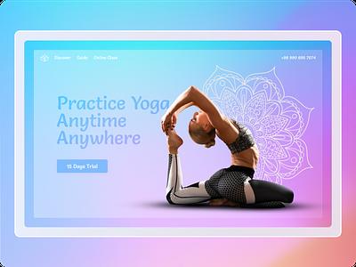 yoga concept blur website design web design webdesign website meditation yoga